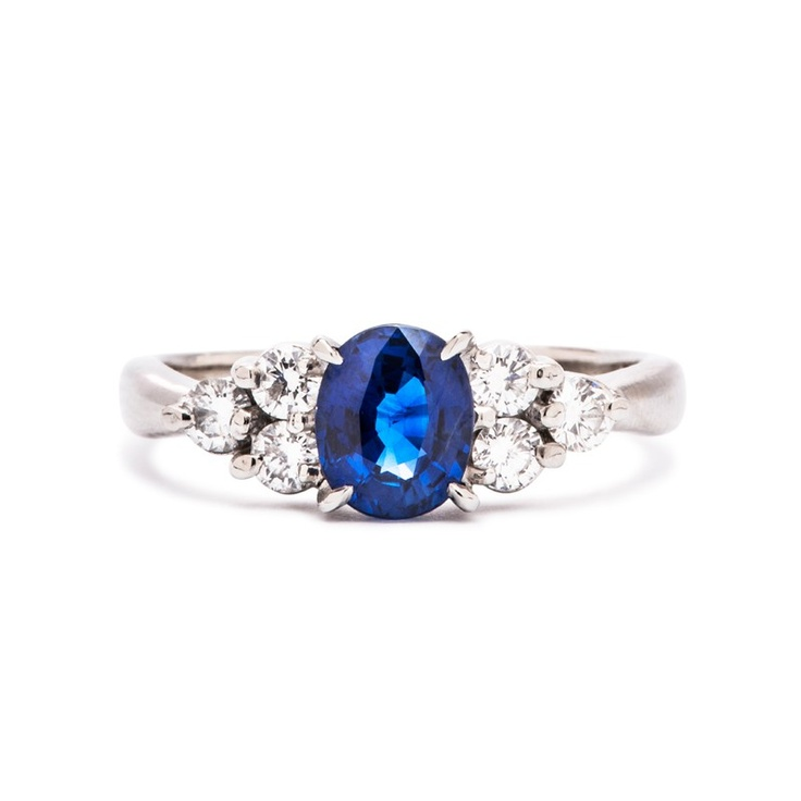 sterling silver shaped simulated blue sapphire